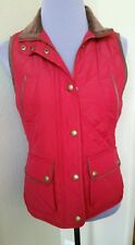 NWT Womens Ralph Lauren Quilted Jacket Vest Size XS Heritage Red/Brown