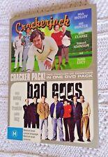 CRAKERJACK / BAD EGGS (DVD, 2-DISC BOX SET) R-4, LIKE NEW, FREE POST AUS-WIDE