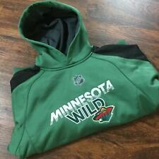 REEBOK MINNESOTA WILD NHL Pullover Green Hooded Sweatshirt Hoodie Boy's Size M