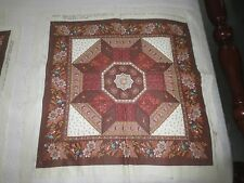 """4 """"Patchwork"""" PiLlow Panels w/Backing & Batting to Quilt & Assemble - 16"""" x 16"""""""