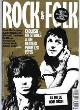 ROCK&FOLK N°521 JANVIER 2011 PAUL McCARTNEY/ KEITH RICHARDS/ NOIR DESIR/ JACKSON