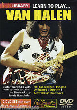 LICK LIBRARY Learn To Play VAN HALEN Hot for Teacher Lesson Riffs GUITAR DVD