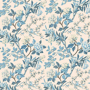 Dolls House Wallpaper 1/12th 1/24th scale Blue Quality Paper #32