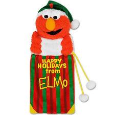 "18"" Sesame Street Plush Happy Holidays from Elmo Christmas Stocking Kurt Adler"