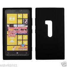 Nokia Lumia 920 SOFT SILICONE SKIN CASE COVER ACCESSORY BLACK