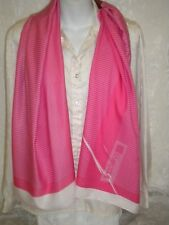 LIVERPOOL Hot-Pink & White Striped Scarf Polyester