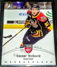 2015 Connor McDavid Leaf In the Game Young Stars Rookie # 21 Erie Otters