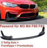 MAX Carbon Frontlippe Schwert Spoilerlippe passend für BMW M4 F82 F83 M3 F80 V2