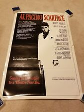 Scarface Advance Movie Poster One Sheet 27 x 41 Used