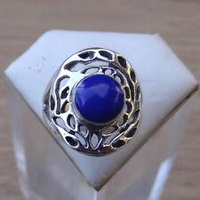 Bague en argent 925 poinçonné pierre en lapis lazuli taille 51,5 ref:bag133