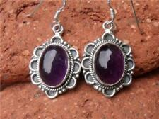 Hook Amethyst Sterling Silver Fine Earrings