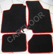 Mitsubishi Grandis ab 03.04 Fußmatten Velours schwarz mit Rand rot