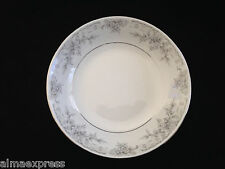 """Lynns Fine China OLIVIA Empress Gray White Flowers - 7-1/2"""" COUPE SOUP BOWL"""