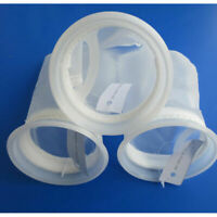2pcs Nylon Fish Tank Filter Sump Pouch Micron Bag Weight Aquarium Filter Socks