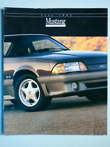 Prospekt brochure 1992 Mustang GT / LX, 8.1991, 10 Seiten, english USA