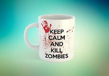 Keep calm and kill zombies tea coffee mug gift walking dead themed personalised