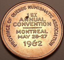 Huge 1st Annual Quebec Numismatic Convention Medallion~1962 Montreal~Free Ship