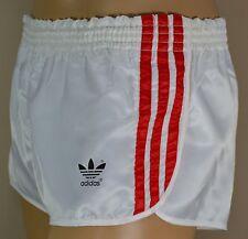 ADIDAS Glanz Nylon Shorts!!!  Vintage Short Sporthose Weiß Gr:M-5       (1296)