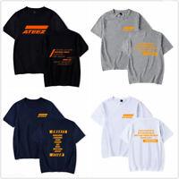 ATEEZ Tshirt KPOP Short-Sleeve Unisex Casual T-Shirt Tee T Shirt Cotton Top
