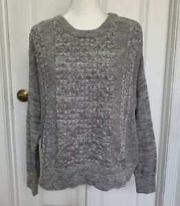 NWT Mossimo Gray Sweater Crewneck Cable Knit Size XXL
