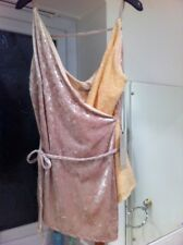 Next Top Size 20 New Sequins Nude Crushed Velvet Wrap Sexy Peach