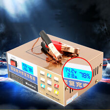 110V/220V Intelligent Pulse Repair Type Car Battery Charger for 12V/24V 100AH