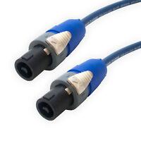Van Damme Blue Speakon to Speakon Loud Speaker Cable Wire. 2 Pole Neutrik NL2FX