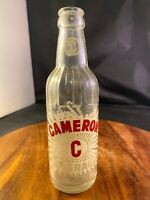 Vintage 1970 Glass Bottle Cameron Beverages by Coca Cola Bottling Co.