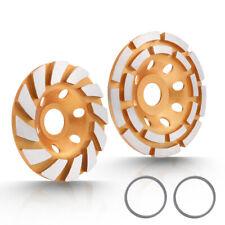 45 Diamond Grinding Cup Wheel Double Row Concrete Angle Grinder 18 Segments Us