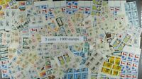 Weeda Canada Postage Lot of 1000 x 5c stamps in sheets, $50 Face Value, useful!
