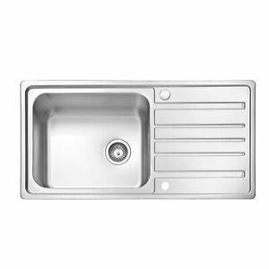Scott & James - 1000 x 500 Superdeep 0.8mm Stainless Steel Sink (220mm deep)