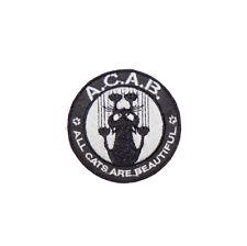Aufnäher  Patch - ACAB - All Cats Are Beautiful ( gestickt ) a.c.a.b. Katze Punk