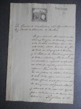 MANUSCRITO AÑO 1888 FISCAL 12º LA SECA VALLADOLID SOLICITUD PLAZA MÉDICO