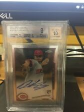 David Holmberg RC On Card Auto 2015 Topps Chrome Reds White Sox Beckett Graded
