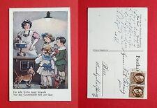 Anlass Reklame AK MÜNCHEN 1914 Ausstellung DAS GAS Graetzinlicht Dackel ( 38260