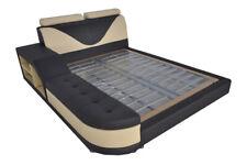 Design Multifunktion Bett XXL Big Betten Leder Hotel Polster 180x200 Regal USB