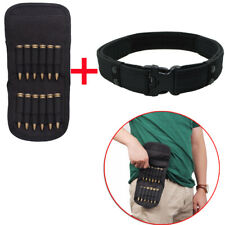 12 Round Rifle Hunting Cartridge Padded Holder Ammo Bag for .410 with 2 in Belt