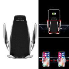 Car Clip Infrared Sensor Wireless Charger Air Vent Mount Phone Holder FR