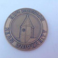 Bronze Kean University New Jersey 50th Reunion Coin Paperweight WOW!!!
