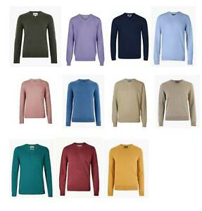 Men's Marks & Spencer M&S V Neck Knitted Jumper Pure Cotton Long Sleeve S To XXL