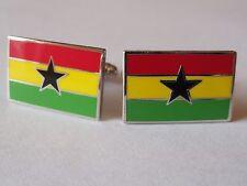 Ghana Flag Cufflinks--Ghanaian West African Africa British Accra Gold Coast