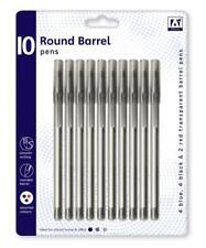 10 x Trasparente Rotondo Canna Medium penne suggerimento per la scrittura liscia colori assortiti