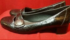 Clarks Brightwood Artisan Collection Women's Mary Jane Leather Pumps Black 8.5 m