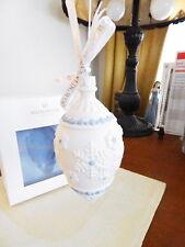 Wedgwood Jasperware SNOWFLAKE TEARDROP Christmas Ornament  Blue - NEW IN BOX!