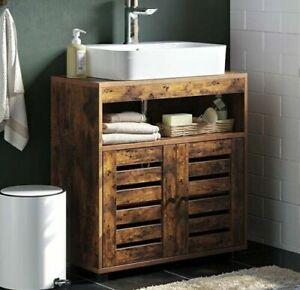 Vintage Bathroom Under Sink Cabinet Basin Vanity Storage Cupboard Unit Furniture