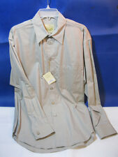 NEW STUBBS Western Cowboy Shirt Taupe Size MEDIUM w/ metal buttons