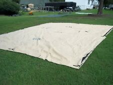 """MILITARY SURPLUS TEMPER TENT TARP  FLY  CAMPING CANOPY 16""""x19"""" ARMY TAN"""