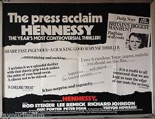 Cinema Poster: HENNESSY 1975 (Review Quad) Rod Steiger Lee Remick Trevor Howard