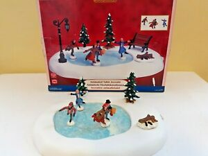 Lemax Animated Table Accents Ice Skating Moving Figures