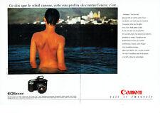 Publicité Advertising 088  1991   Canon  appareil Photo Eos  1000 F (2 pages)